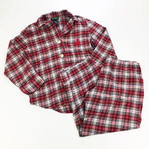 Lauren Ralph Lauren Plaid Flannel Pajamas